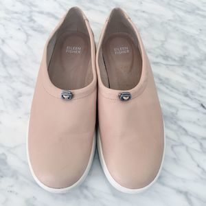 Eileen Fisher Shoes - Eileen Fisher Sydney Leather Slip on Sneaker Flats